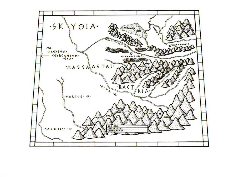 Map of Skythia and Bactria