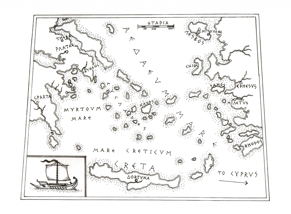 Map of the Aegean Sea