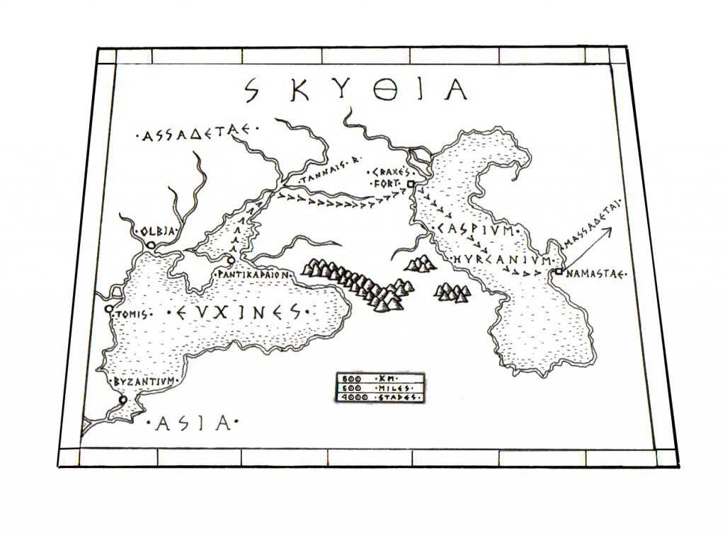 Map of the Kaspian Sea